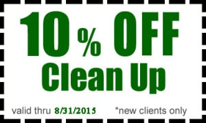 10% off clean up from Turfco