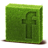 facebook icon made out of grass