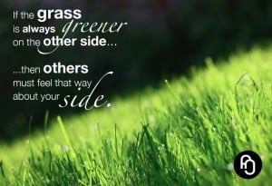 meme about grass being greener on the other side