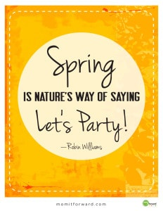 quote by Robin Williams on the first day of Spring